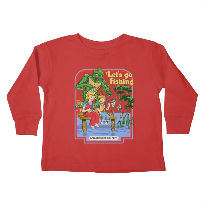 Let's Go Fishing Kids Toddler Longsleeve T-Shirt by Steven Rhodes