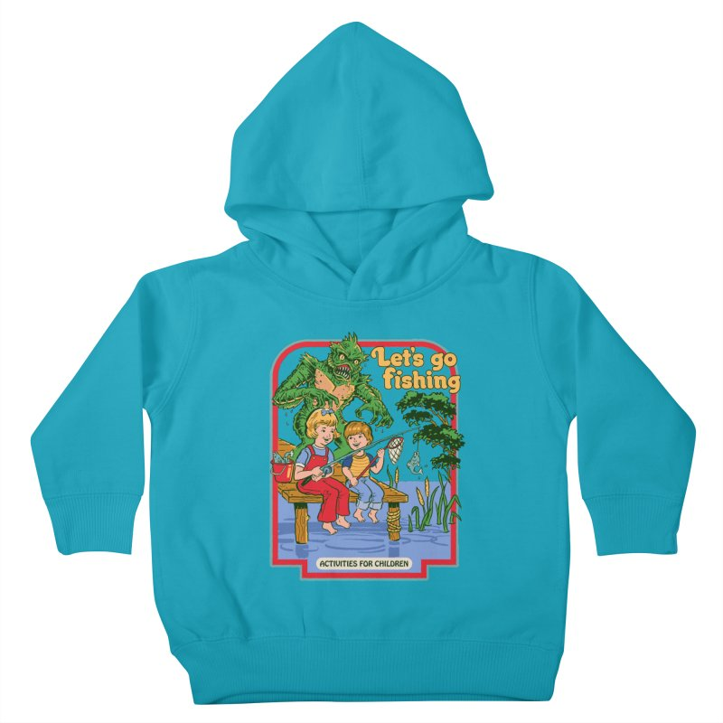 Let's Go Fishing Kids Toddler Pullover Hoody by Steven Rhodes