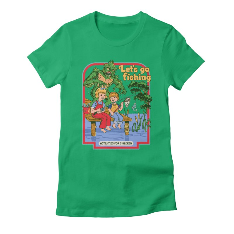 Let's Go Fishing Women's Fitted T-Shirt by Steven Rhodes