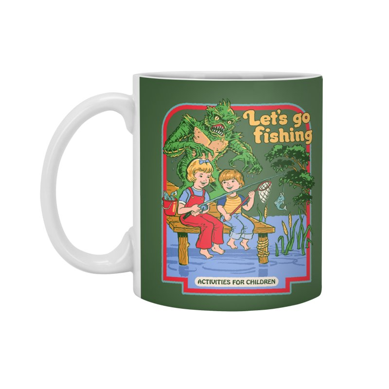 Let's Go Fishing Accessories Mug by Steven Rhodes