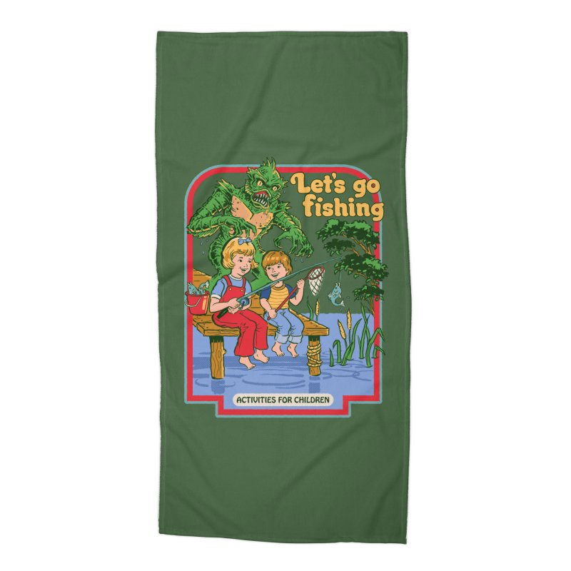 Let's Go Fishing Accessories Beach Towel by Steven Rhodes