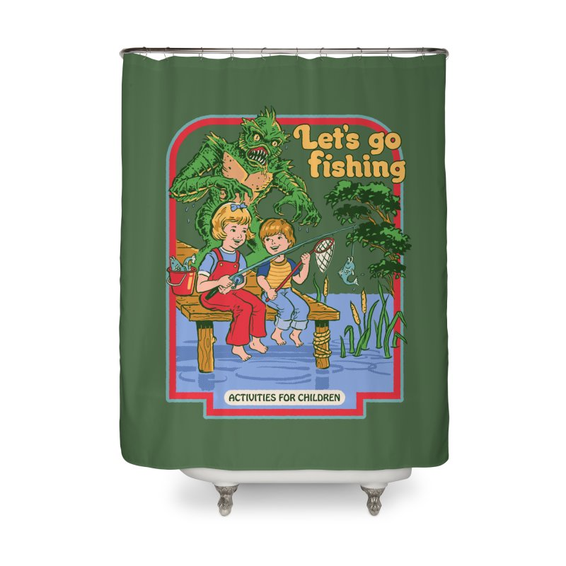Let's Go Fishing Home Shower Curtain by Steven Rhodes