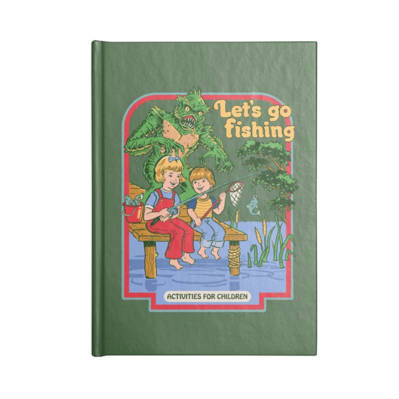 Let's Go Fishing Accessories Notebook by Steven Rhodes