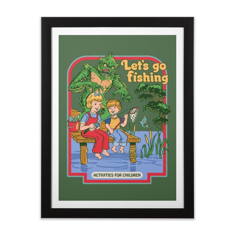 Let's Go Fishing Home Framed Fine Art Print by Steven Rhodes