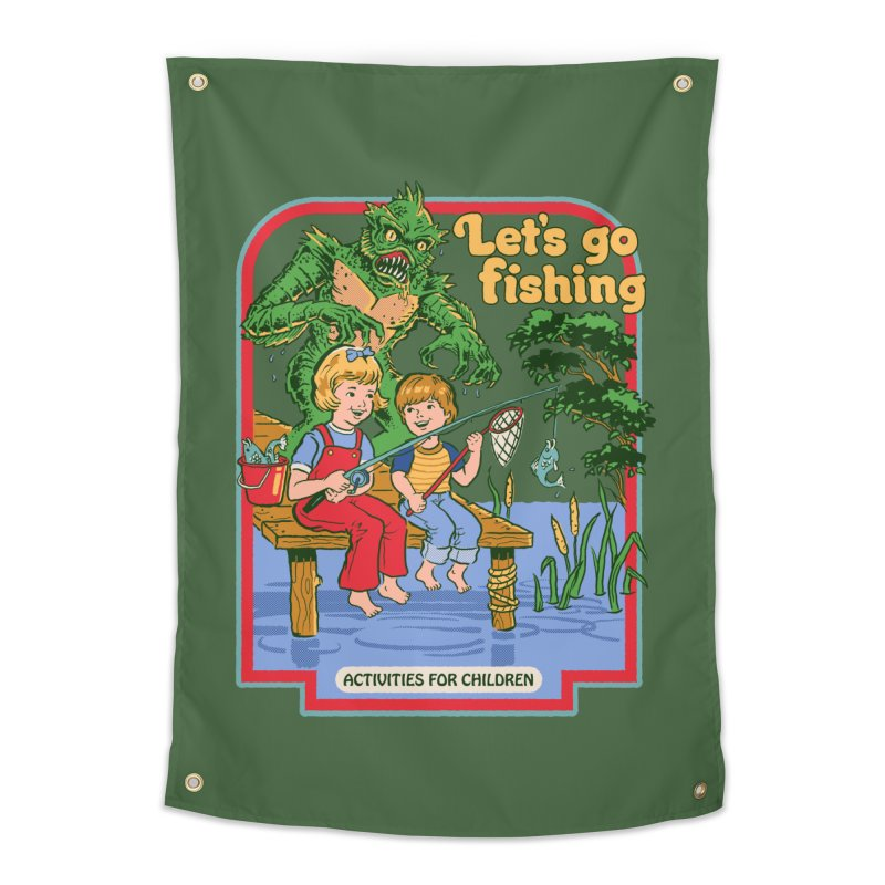 Let's Go Fishing Home Tapestry by Steven Rhodes