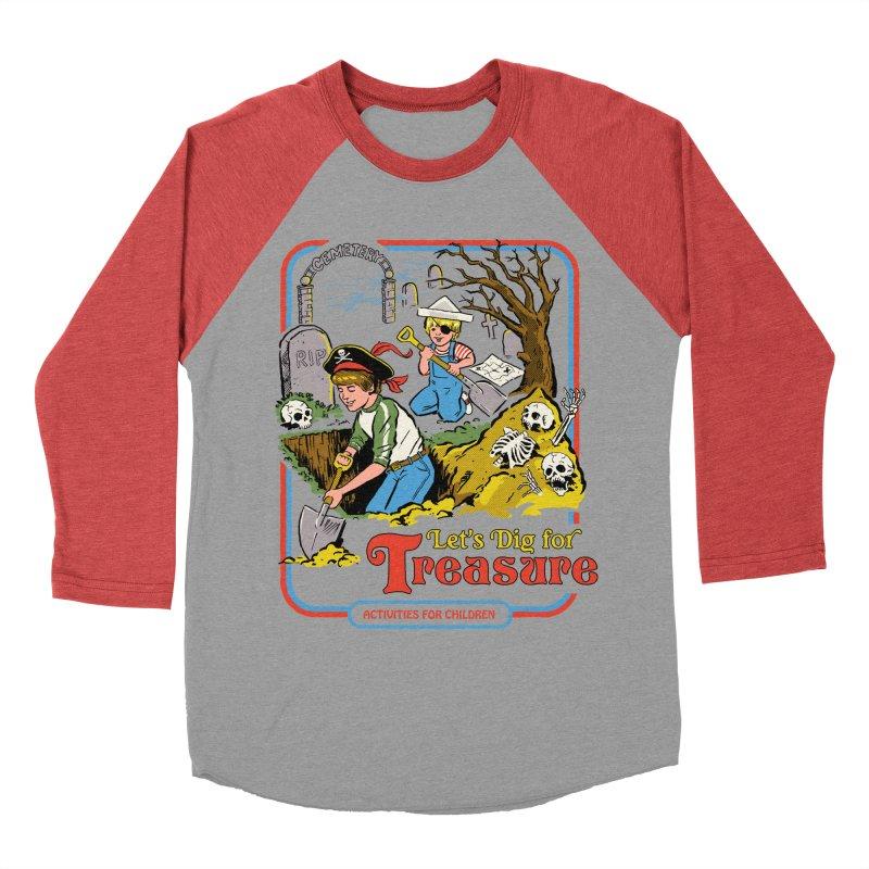 Let's Dig for Treasure Men's Baseball Triblend T-Shirt by Steven Rhodes