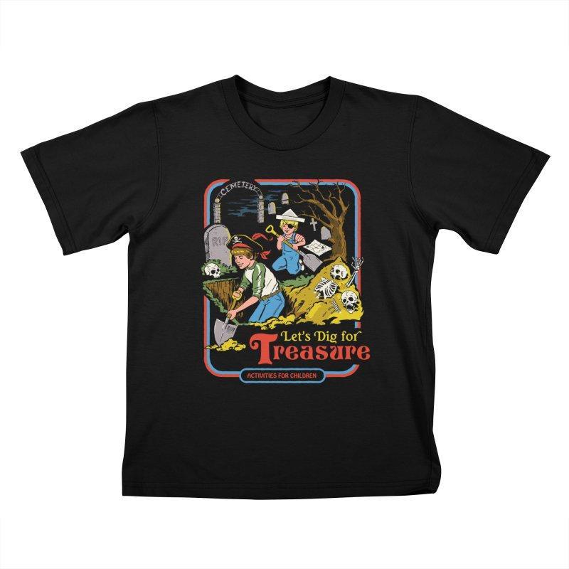 Let's Dig for Treasure Kids T-Shirt by Steven Rhodes