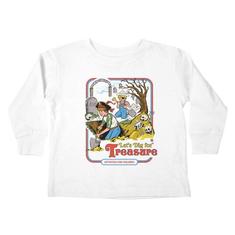 Let's Dig for Treasure Kids Toddler Longsleeve T-Shirt by Steven Rhodes