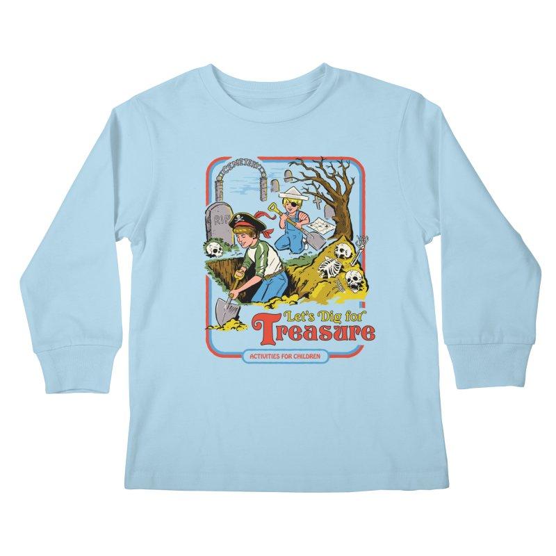 Let's Dig for Treasure Kids Longsleeve T-Shirt by Steven Rhodes