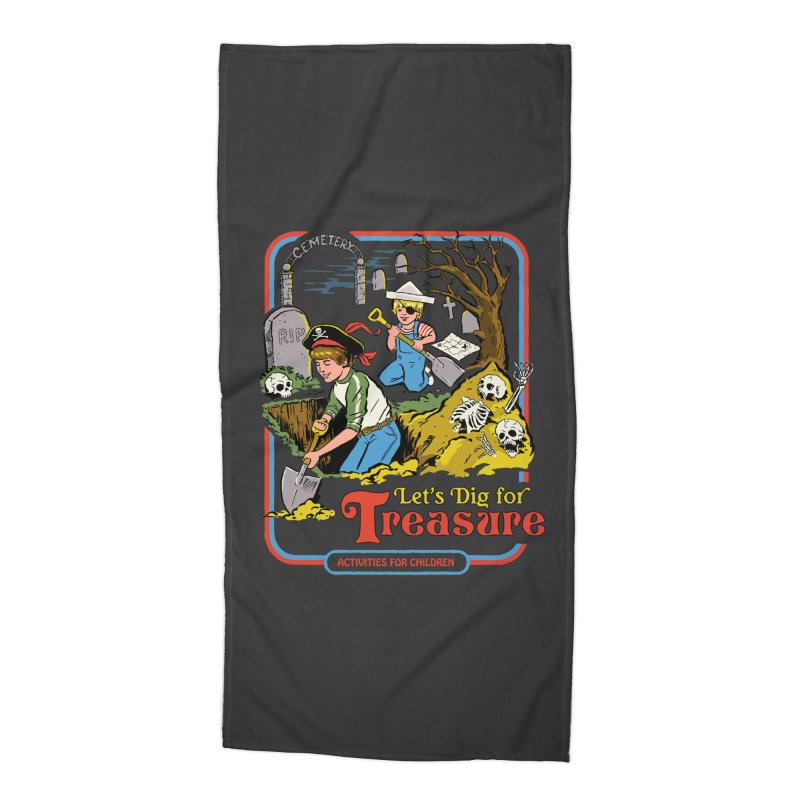 Let's Dig for Treasure Accessories Beach Towel by Steven Rhodes