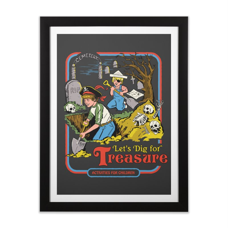 Let's Dig for Treasure Home Framed Fine Art Print by Steven Rhodes