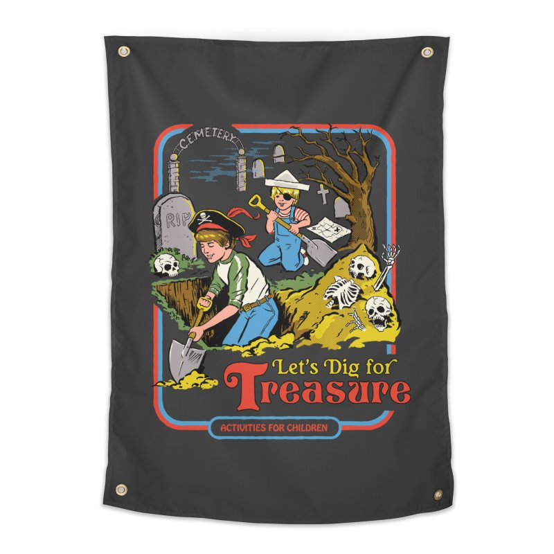 Let's Dig for Treasure Home Tapestry by Steven Rhodes