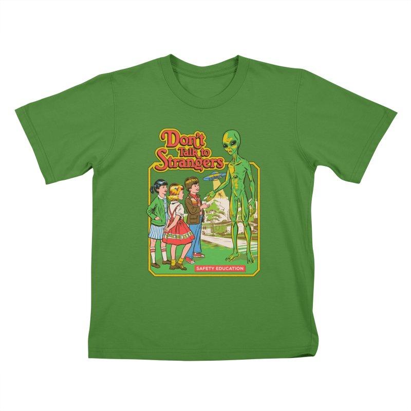 Don't Talk to Strangers Kids T-Shirt by Steven Rhodes