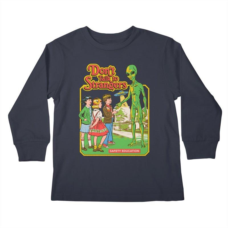 Don't Talk to Strangers Kids Longsleeve T-Shirt by Steven Rhodes