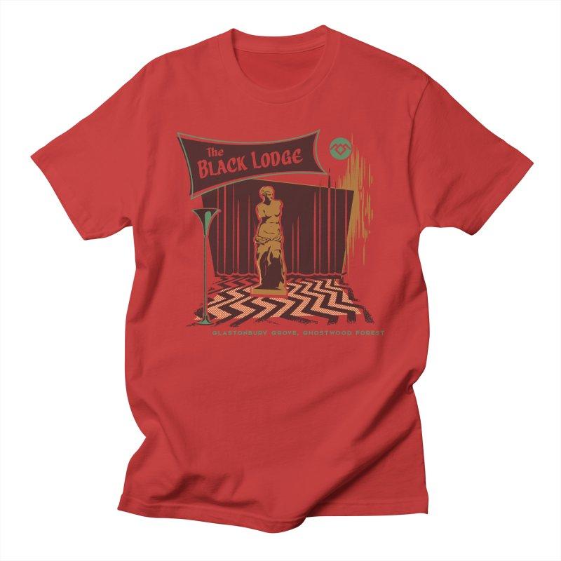 The Black Lodge Men's T-Shirt by Steven Rhodes