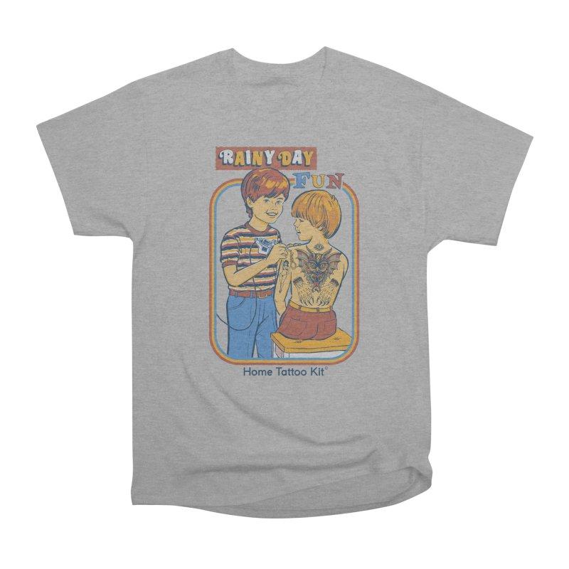 Rainy Day Fun Men's Heavyweight T-Shirt by Steven Rhodes