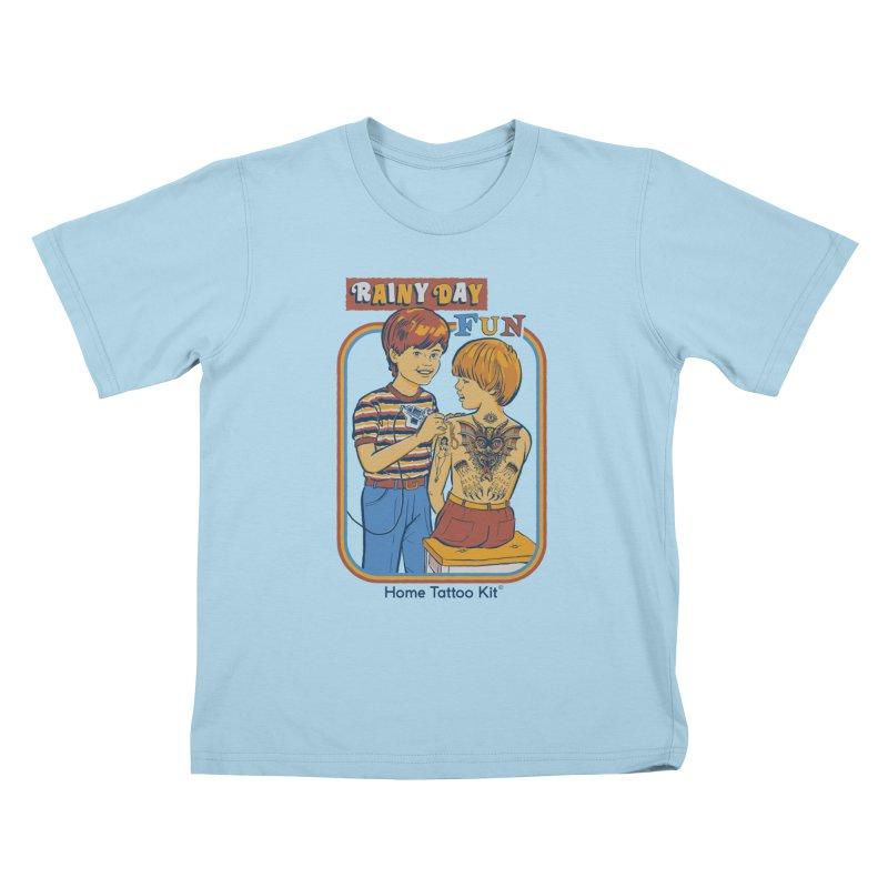 Rainy Day Fun Kids T-Shirt by Steven Rhodes