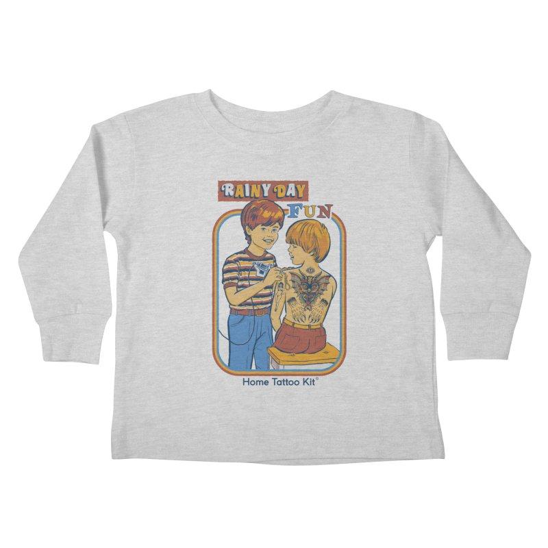 Rainy Day Fun Kids Toddler Longsleeve T-Shirt by Steven Rhodes
