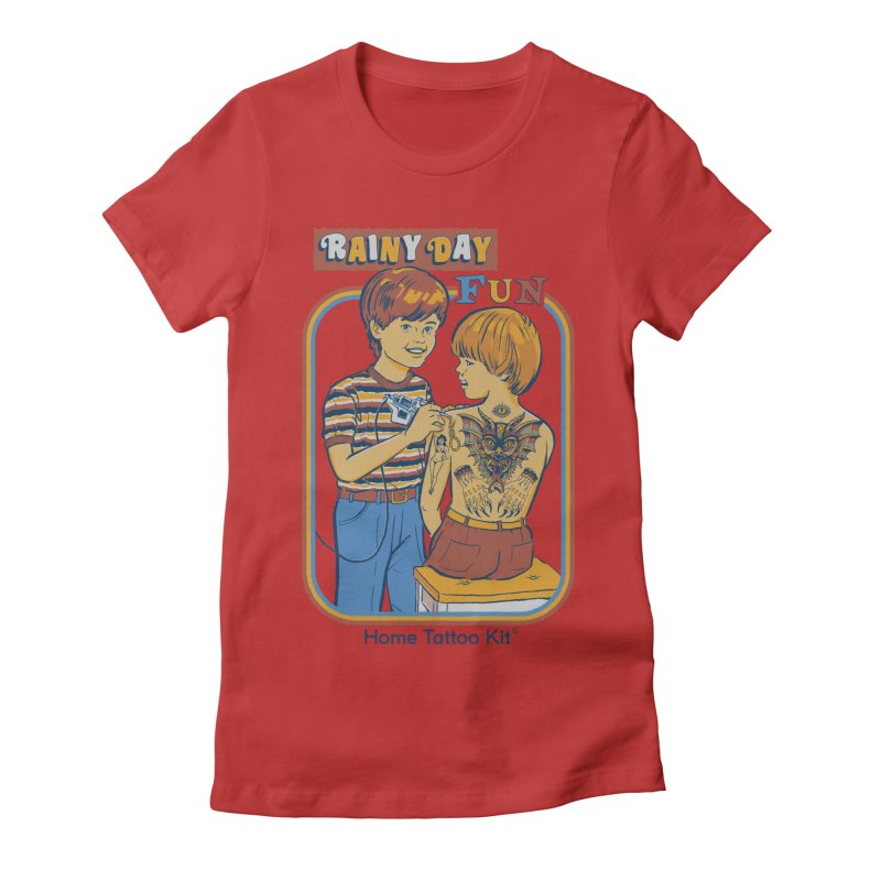 Rainy Day Fun Women's Fitted T-Shirt by Steven Rhodes