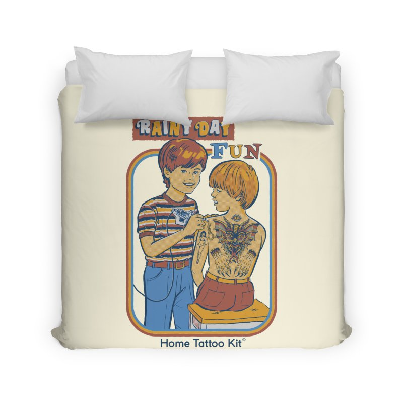 Rainy Day Fun Home Duvet by Steven Rhodes