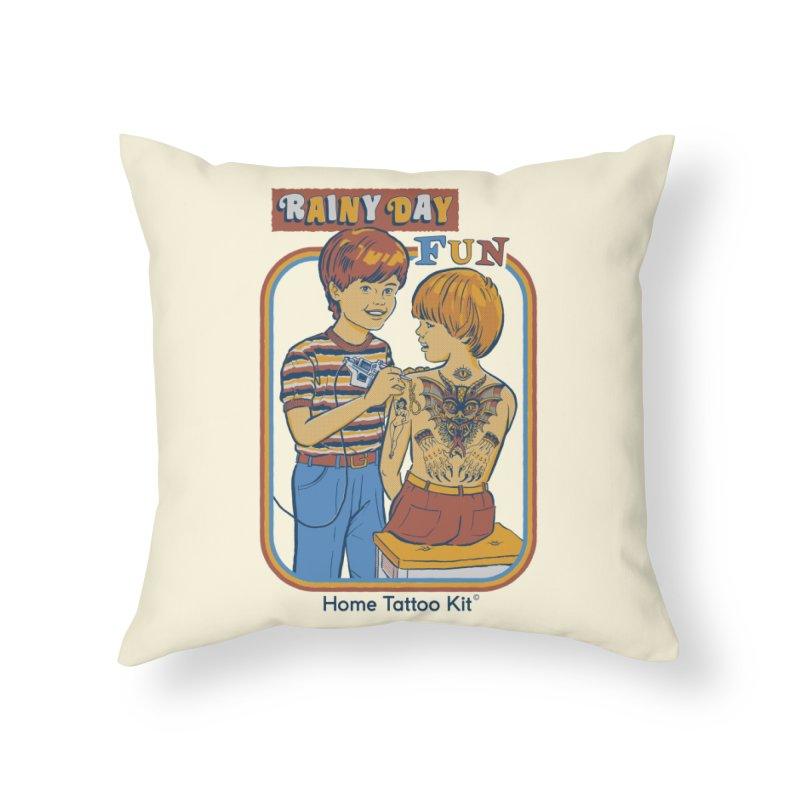Rainy Day Fun Home Throw Pillow by Steven Rhodes