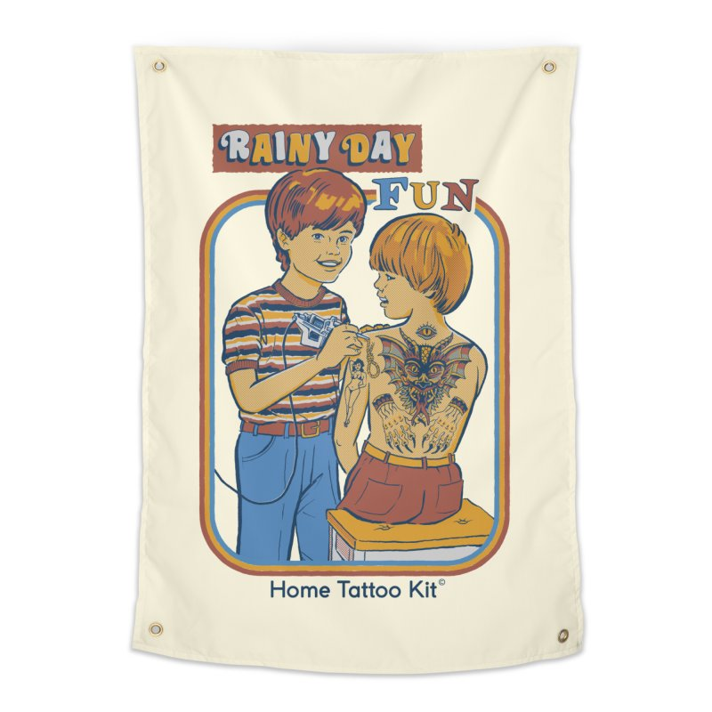 Rainy Day Fun Home Tapestry by Steven Rhodes