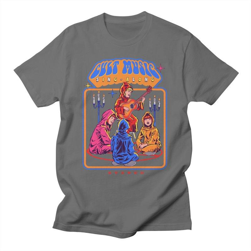 Cult Music Sing-Along Men's T-Shirt by Steven Rhodes