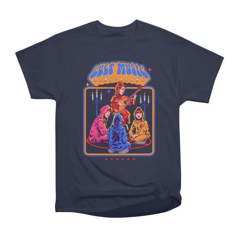 Cult Music Sing-Along Women's Heavyweight Unisex T-Shirt by Steven Rhodes