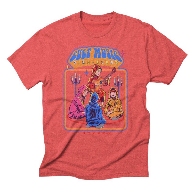 Cult Music Sing-Along Men's Triblend T-Shirt by Steven Rhodes