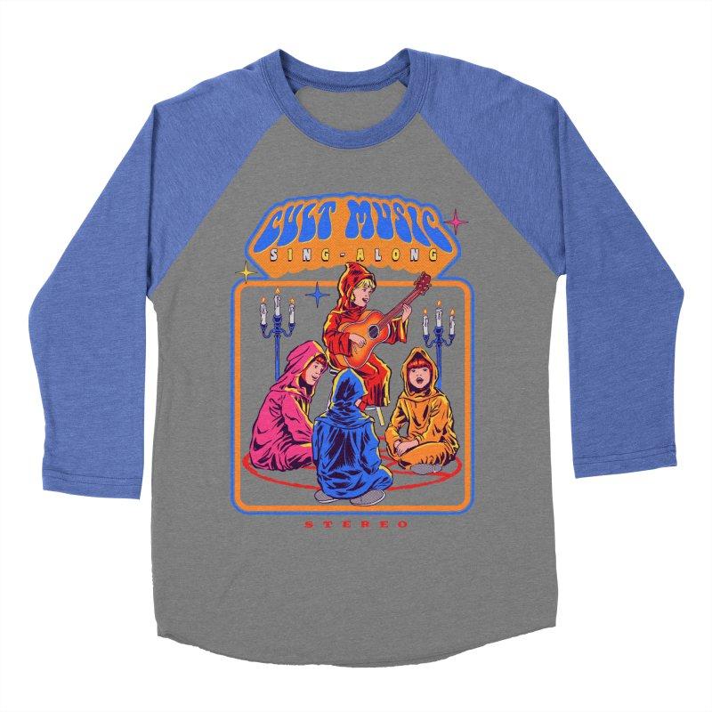 Cult Music Sing-Along Men's Baseball Triblend T-Shirt by Steven Rhodes