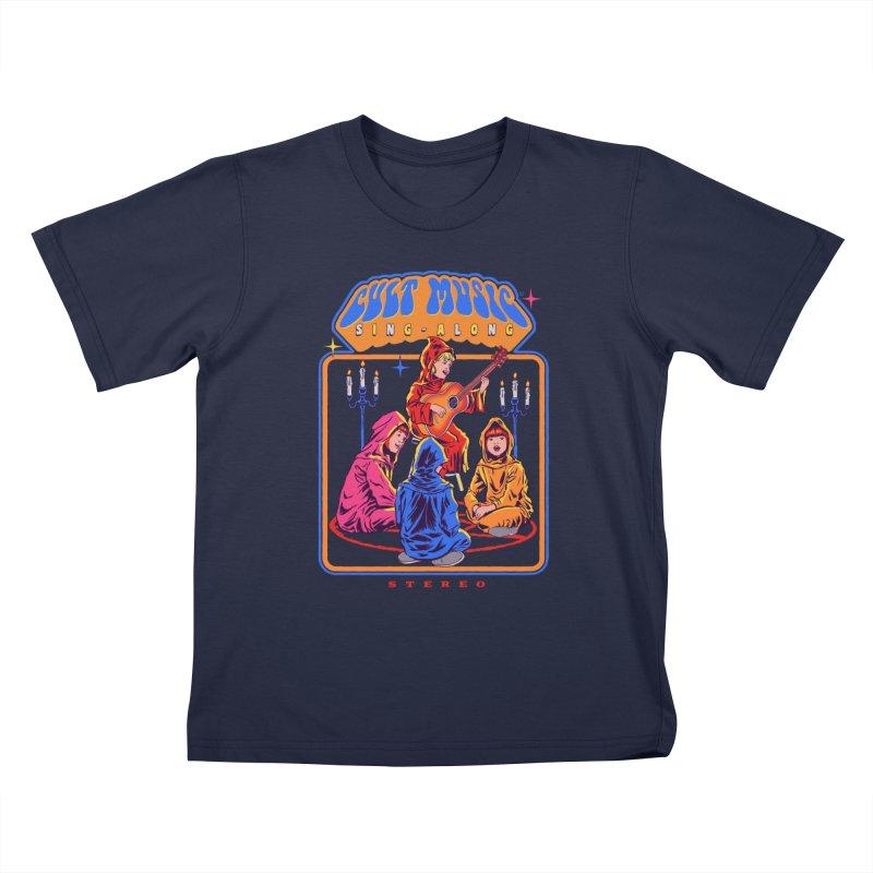 Cult Music Sing-Along Kids T-Shirt by Steven Rhodes