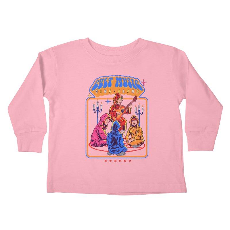 Cult Music Sing-Along Kids Toddler Longsleeve T-Shirt by Steven Rhodes