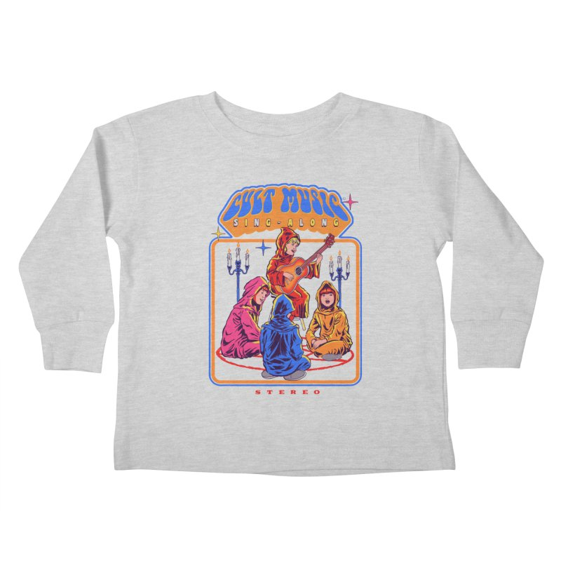 Cult Music Sing-Along Kids Toddler Longsleeve T-Shirt by Steven Rhodes