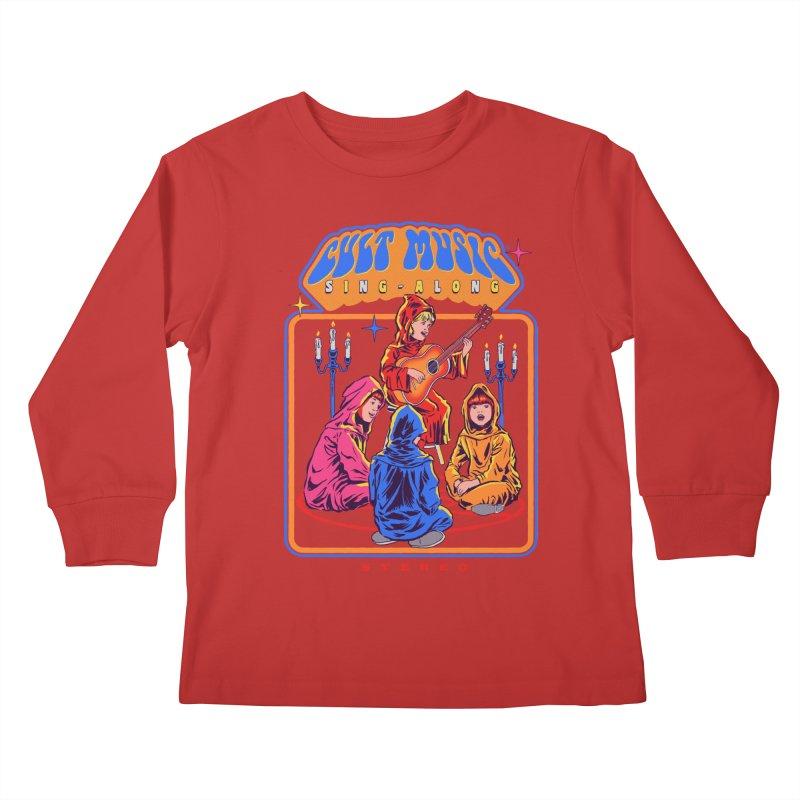 Cult Music Sing-Along Kids Longsleeve T-Shirt by Steven Rhodes