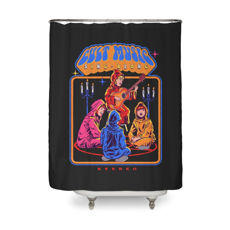 Cult Music Sing-Along Home Shower Curtain by Steven Rhodes