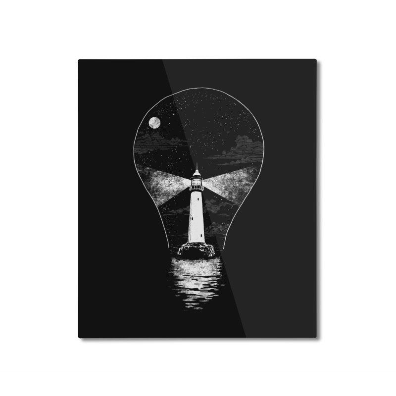Light Bulb House Home Mounted Aluminum Print by Steven Rhodes