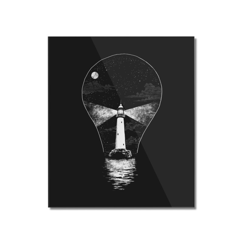 Light Bulb House Home Mounted Acrylic Print by Steven Rhodes