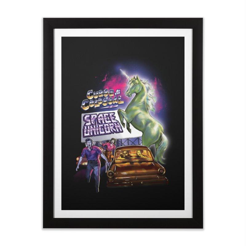 Space Unicorn Home Framed Fine Art Print by Steven Rhodes