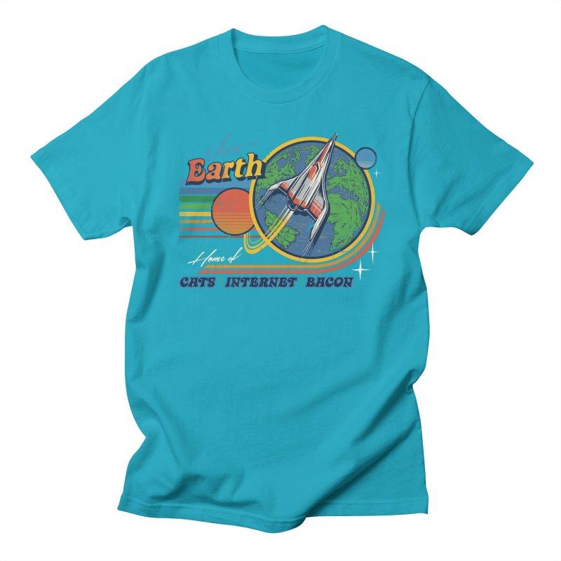 Visit Earth Men's T-Shirt by Steven Rhodes