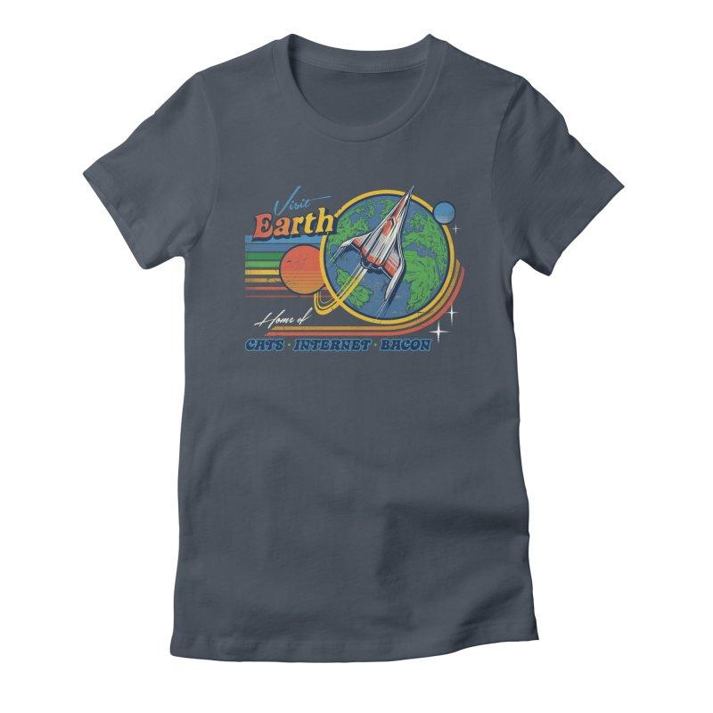 Visit Earth Women's T-Shirt by Steven Rhodes