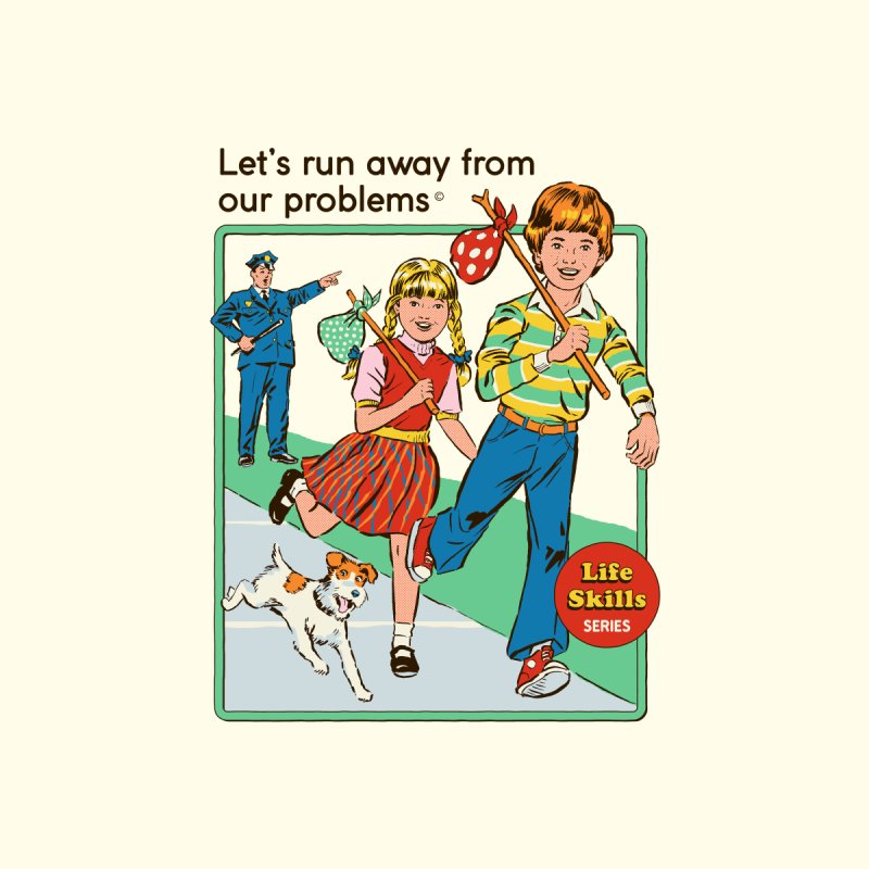 Let's Run Away Men's T-Shirt by Steven Rhodes