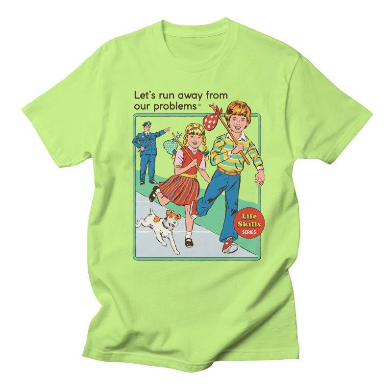 Let's Run Away Men's T-Shirt by Steven Rhodes