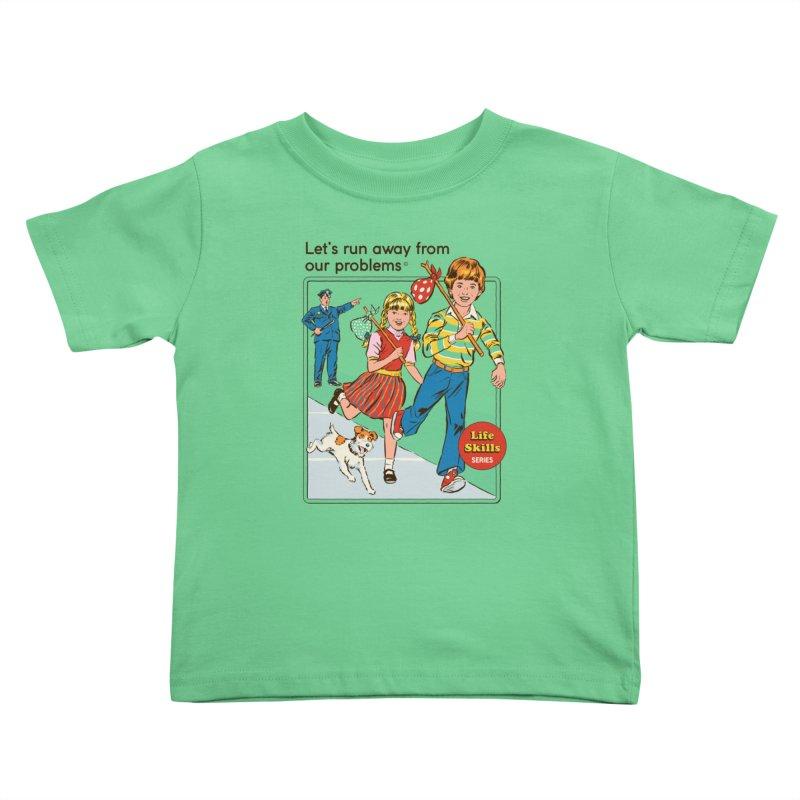 Let's Run Away Kids Toddler T-Shirt by Steven Rhodes