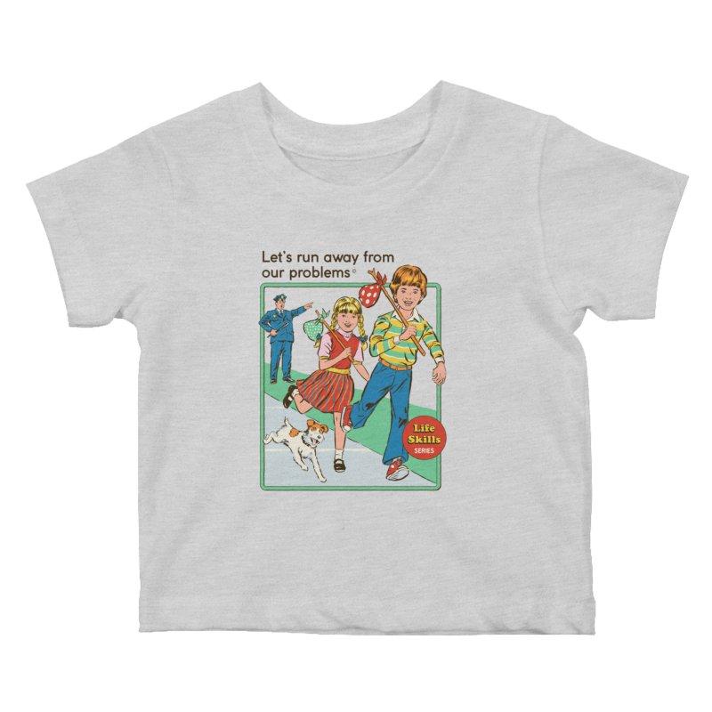 Let's Run Away Kids Baby T-Shirt by Steven Rhodes