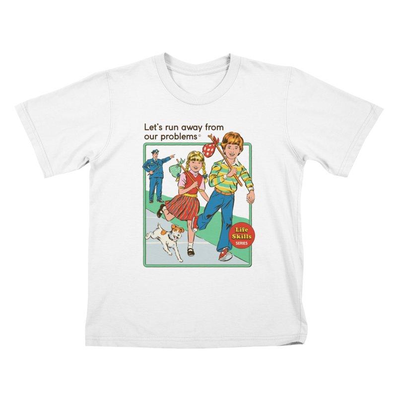 Let's Run Away Kids T-Shirt by Steven Rhodes
