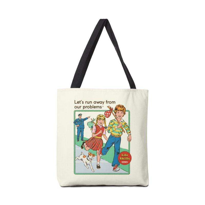 Let's Run Away Accessories Bag by Steven Rhodes
