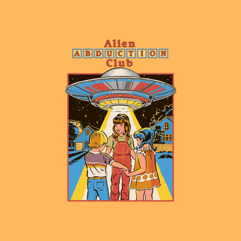 Alien Abduction Club Men's T-Shirt by Steven Rhodes