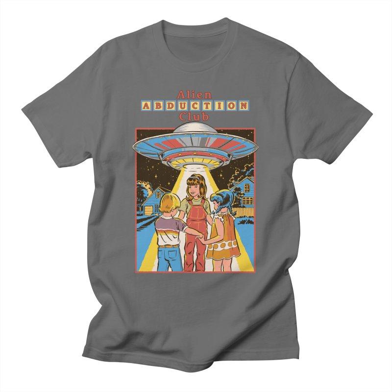 Alien Abduction Club Men's T-Shirt by Steven Rhodes