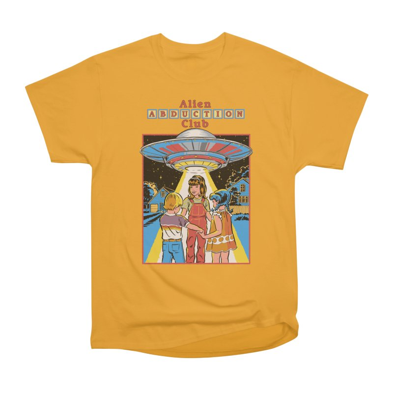 Alien Abduction Club Women's Heavyweight Unisex T-Shirt by Steven Rhodes