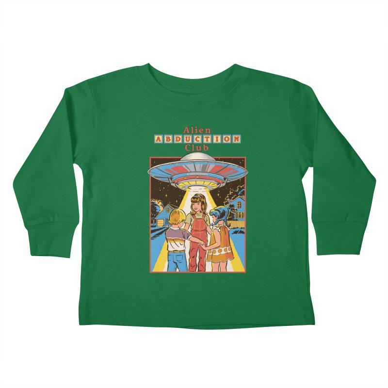 Alien Abduction Club Kids Toddler Longsleeve T-Shirt by Steven Rhodes